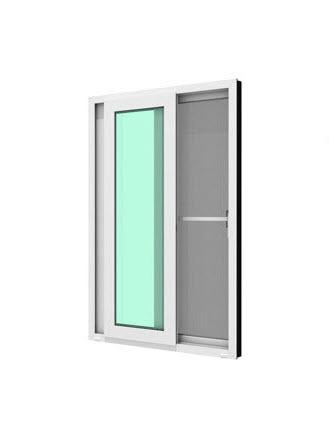 หน้าต่างบานเลื่อนคู่ (เลื่อนสลับ)  WINDSOR รุ่น READY+มุ้งลวด 120×110 ซม.