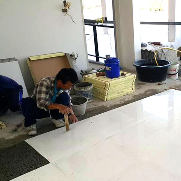 big tile installation