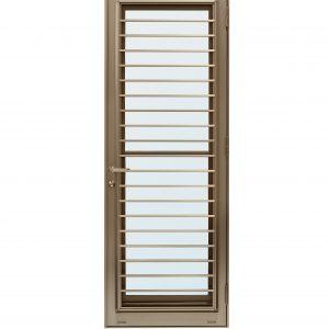 ประตูระบายอากาศ (เปิดขวา) TOSTEM รุ่น WE-70 กระจกเขียวใส (มุ้งลวดในตัว)