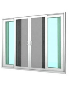 หน้าต่างบานเลื่อน 4 บาน WINDSOR รุ่น MARK ll กระจกเขียวใส 5 มม.