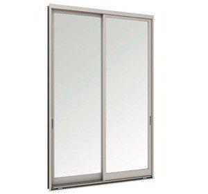 หน้าต่างบานเลื่อนคู่(เลื่อนสลับ) TOSTEM รุ่น WE-70 กระจกเขียวใส (ไม่มีมุ้งลวด)