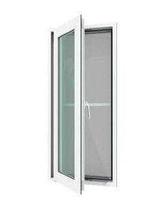 หน้าต่างบานเปิดเดี่ยว(ซ้าย) WINDSOR กระจกเขียวใส 5 มม. ไม่มีมุ้งลวด