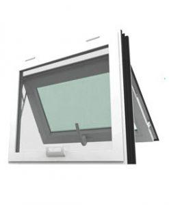 หน้าต่างบานกระทุ้ง WINDSOR รุ่น MARK ll กระจกลายฝ้า 5 มม. ไม่มีมุ้งลวด