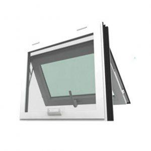 หน้าต่างบานกระทุ้ง รุ่น SMART กระจกลายฝ้า 5 มม. ไม่มีมุ้งลวด