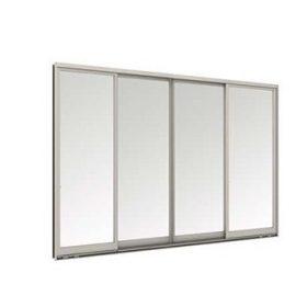 หน้าต่างบานเลื่อน 4 บาน TOSTEM รุ่น WE-40 กระจกเขียวใส 5 มม.(ไม่มีมุ้งลวด)