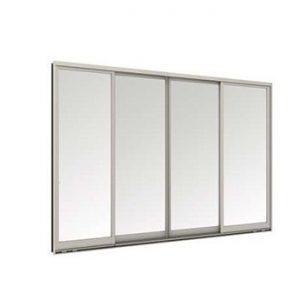 หน้าต่างบานเลื่อน 4 บาน TOSTEM รุ่น WE-70 กระจกเขียวใส 5 มม. (ไม่มีมุ้งลวด)