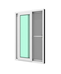 ประตูบานเลื่อนคู่(เลื่อนสลับ)รุ่นSIGNATUREกระจกเขียวใส 6มม.ติดกุญแจ+มุ้งลวด