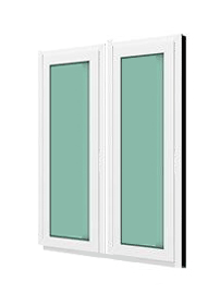 หน้าต่างบานฟิกซ์ 2 panel WINDSOR รุ่นMARK ll กระจกเขียวใส 5 มม.