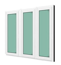 หน้าต่างบานฟิกซ์ 3 panel Fixed กระจกเขียวใส 5 มม. WINDSOR รุ่นSMART