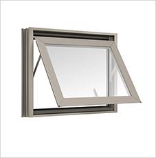 หน้าต่างบานกระทุ้งAwning TOSTEM รุ่น P7 พร้อมมุ้งลวด กระจกลายฝ้า 5 มม.