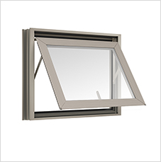 หน้าต่างบานกระทุ้งAwning TOSTEM รุ่น P7 กระจกเขียวใส 5 มม.(ไม่มีมุ้งลวด)