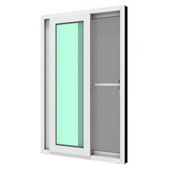 หน้าต่างบานเลื่อนคู่ (เลื่อนสลับ) WINDSOR รุ่น MARK ll กระจกเขียวใส 5 มม.