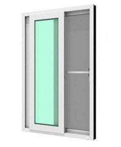 ประตูบานเลื่อนคู่ รุ่น SMART กระจกเขียวใส 5 มม. ติดกุญแจ