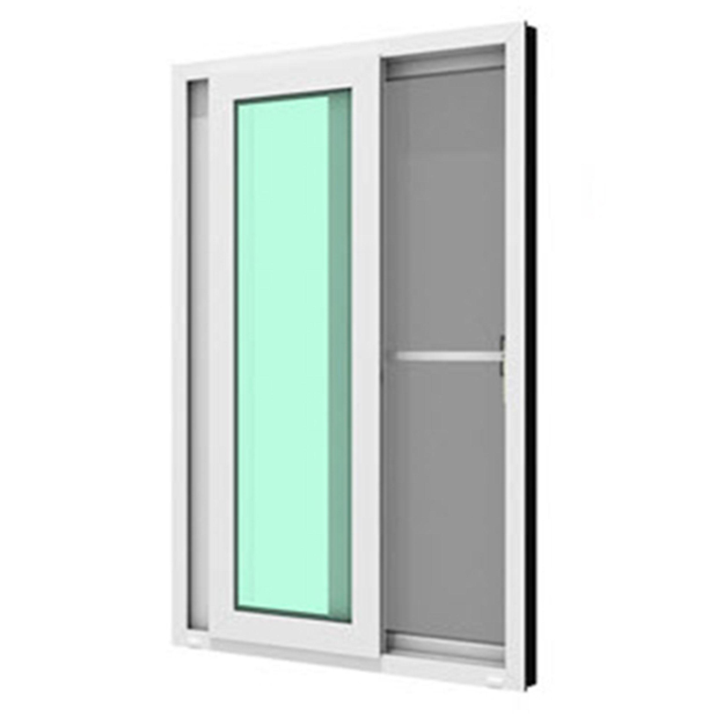 หน้าต่างบานเลื่อนคู่(เลื่อนสลับ) รุ่น SIGNATURE กระจกเขียวใส 6 มม.+มุ้งลวด