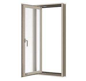 หน้าต่างบานเปิดเดี่ยว(ซ้าย) TOSTEM รุ่น P7 กระจกเขียวใส 5 มม.(ไม่มีมุ้งลวด)