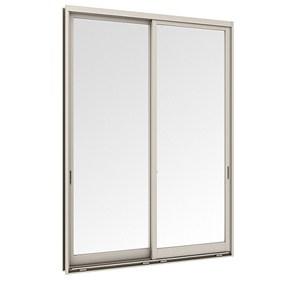 หน้าต่างบานเลื่อนคู่ (เลื่อนสลับ) TOSTEM รุ่น P7 พร้อมมุ้งลวด กระจกเขียวใส