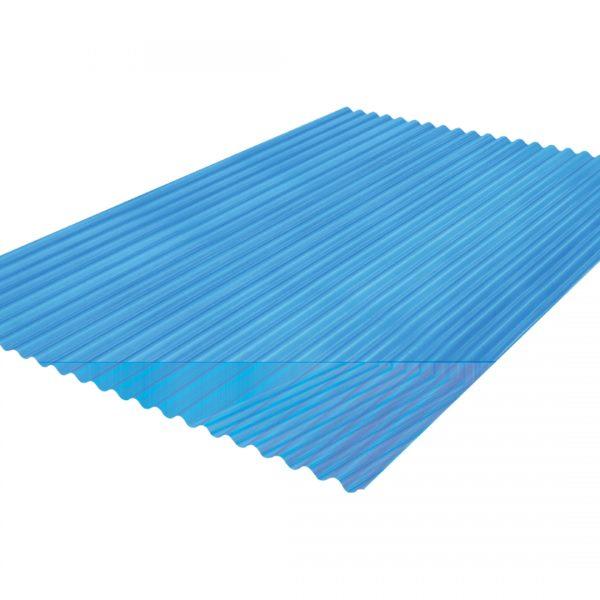 แผ่นโปร่งแสง เอสซีจี ลอนกันสาด105x300x0.12ซม.สีฟ้าน้ำทะเล