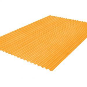 แผ่นโปร่งแสง เอสซีจี ลอนกันสาด105X300X0.12 ซม. สีส้ม