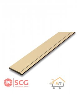 ไม้เชิงชาย เอสซีจี ขนาด 15x300x1.6 ซม.และ ขนาด 20X300X1.6 ซม. สีรองพื้นครีม