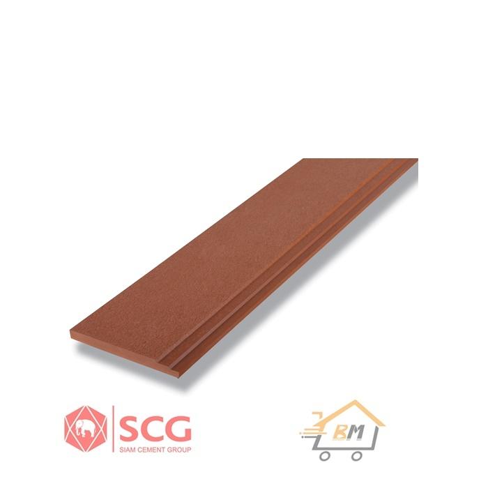 ไม้เชิงชาย เอสซีจี รุ่นพร้อม ขนาด 23.5x300x1.8 ซม. สีรองพื้น