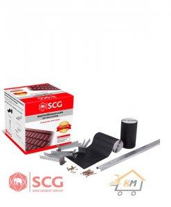ชุดอุปกรณ์ยึดครอบระบบแห้ง (Dry tech system) เอสซีจี สำหรับหลังคาเซรามิค รุ่นพรีเมี่ยม-สันหลังคา