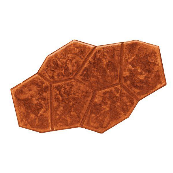 กระเบื้องคอนกรีตปูพื้น เอสซีจี รุ่น แสตมป์เพฟ ลายตูริน สีส้ม