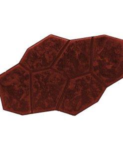 กระเบื้องคอนกรีตปูพื้น เอสซีจี รุ่น แสตมป์เพฟ ลายตูริน สีแดง