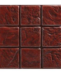 กระเบื้องคอนกรีตปูพื้น เอสซีจี รุ่น แสตมป์เพฟ ลายเนเปิ้ล สีแดง