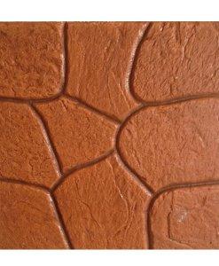 กระเบื้องคอนกรีตปูพื้น เอสซีจี รุ่น แสตมป์เพฟ ลายโรม่า สีส้ม