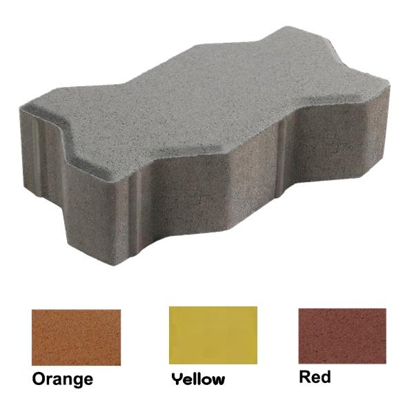 บล็อกปูพื้น เอสซีจี รุ่นคดกริช ขนาด 11.25 x22.5 x 6 ซม.