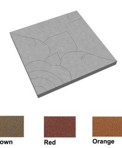 บล็อกปูพื้น เอสซีจี รุ่นศิลาเหลี่ยม ลายไทย-ดาราวดี ขนาด 50x50x6 ซม.