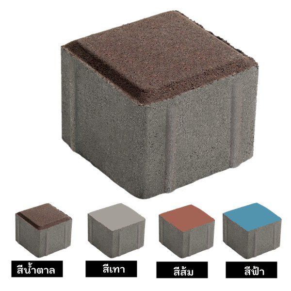 บล็อกปูพื้น เอสซีจี รุ่น จินตนาการ-จัตุรัส (Pack) 6 ซม.