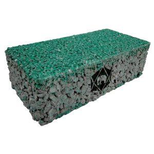 บล็อกปูพื้น เอสซีจี รุ่น บล็อกพรุน 10x20x6 ซม. สีเขียว