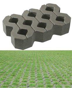 บล็อกปูพื้น เอสซีจี รุ่น บล็อกสนามหญ้า 40 x 25 x 8 ซม. สีเทา
