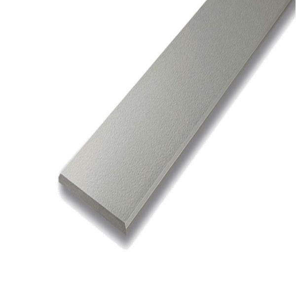 ไม้ระแนง เอสซีจี รุ่นลบมุม ขนาด 7.5x300x0.8 ซม. -สีซีเมนต์