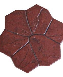 กระเบื้องคอนกรีตปูพื้น เอสซีจี รุ่น แสตมป์เพฟ ลายฟอเรนซ์ สีแดง