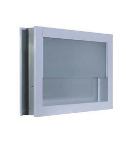หน้าต่างอลู ขาว กระจกซ้อน ไม่มุ้ง 60X40ซม.KPA723