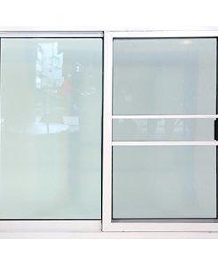 หน้าต่างอลู บล ขาว 2ช่อง+มุ้ง 122X105ซม.KPA211
