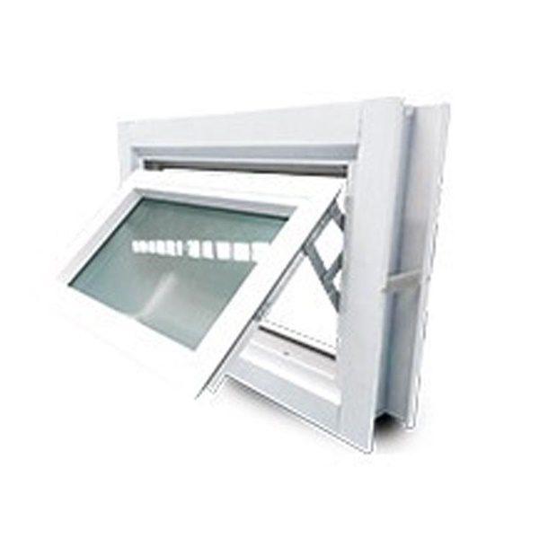 หน้าต่างอลู บานกระทุ้ง 60X40 ซม. มีมุ้ง สีขาว KPA513
