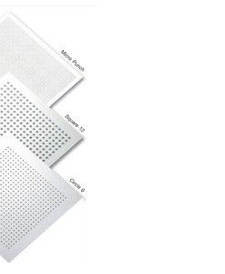แผ่นฝ้าลดเสียงสะท้อน เอคโค่บล็อค ไทล์ (EchoBloc Tile) รุ่นฉลุสีเหลี่ยม (Square12)-ขอบบังใบ ตราช้าง