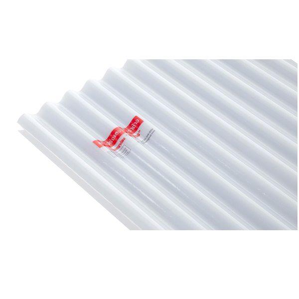 แผ่นโปร่งแสง เอสซีจี ลอนกันสาด Heat Shield สีขาวขุ่น(Milky White)