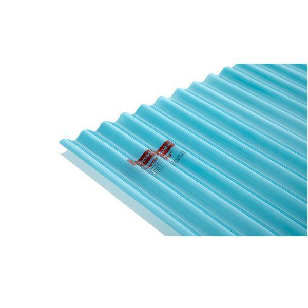 แผ่นโปร่งแสง เอสซีจี ลอนกันสาด Heat Shield สีฟ้าน้ำทะเล(Andaman)