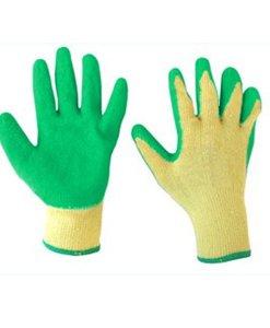 """ถุงมือเคลือบยางธรรมชาติ 9"""" รุ่น 9042 สีเขียว"""
