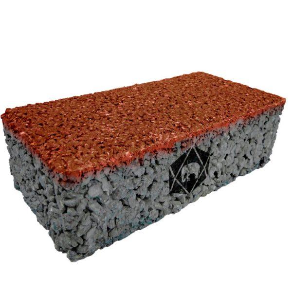 บล็อกปูพื้น เอสซีจี รุ่น บล็อกพรุน 10x20x6 ซม. สีส้ม