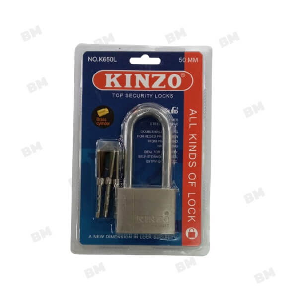 กุญแจเงินแบบแขวนคินโซ่ NO.K650L-50มม.