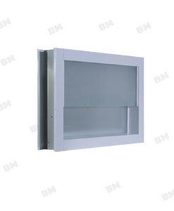 หน้าต่างอลู ขาว กระจกซ้อน+มุ้ง 60X40ซม.KPA713