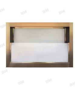 หน้าต่างอลู สีชา กระจกซ้อน+มุ้ง 60X40ซม.KPA713
